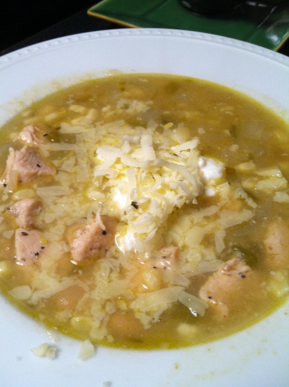 White Chicken Chili Recipe — Dishmaps