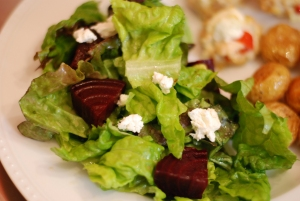 Beet Salad with Honey Goat Cheese Vinaigrette