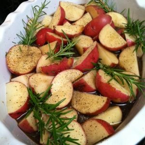 balsamic roasted potatoes.