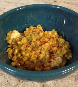 Spicy Corn with Feta and Lime