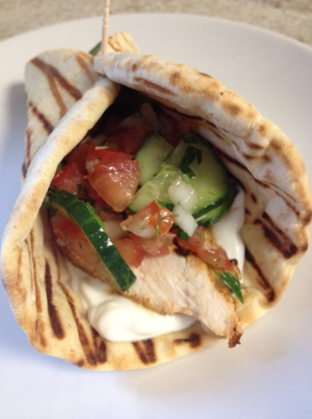 Grilled Chicken Tzatziki Pitas The Dough Will Rise Again