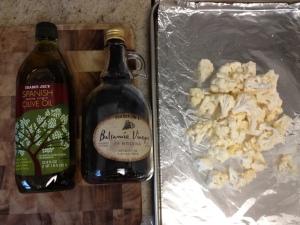 Balsamic and Parmesan Roasted Cauliflower