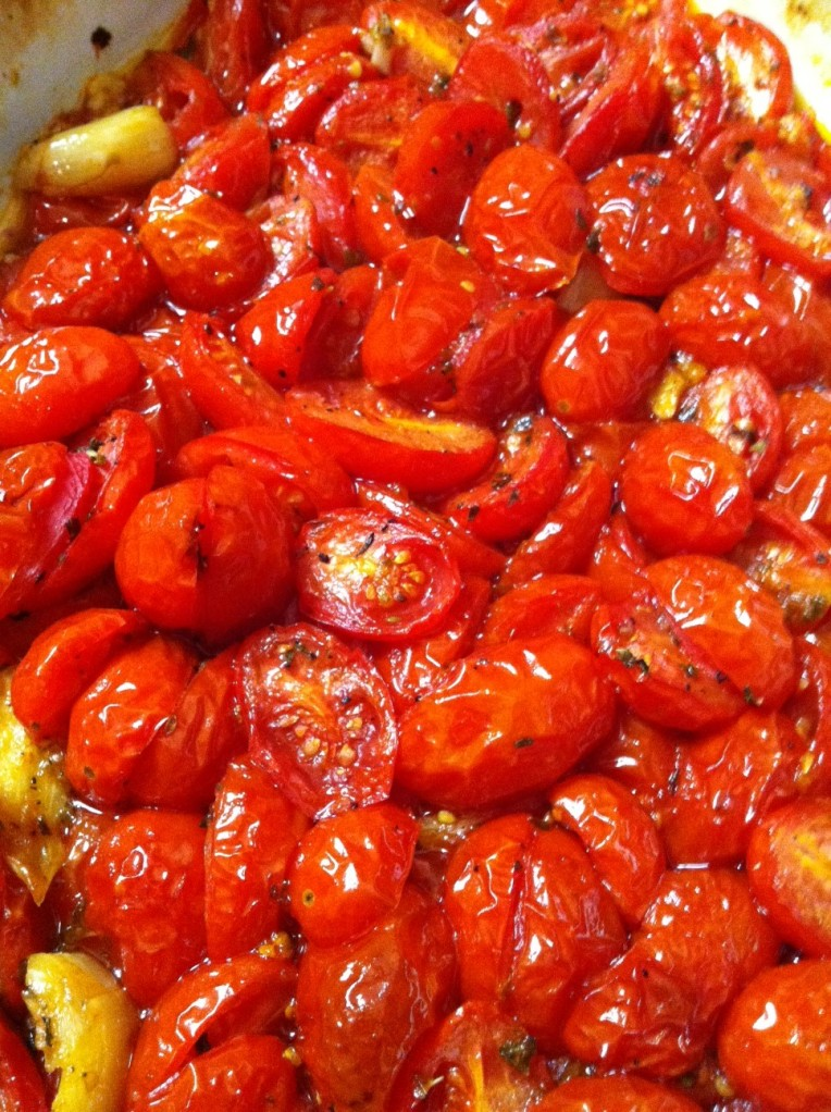 roasted tomatoes.