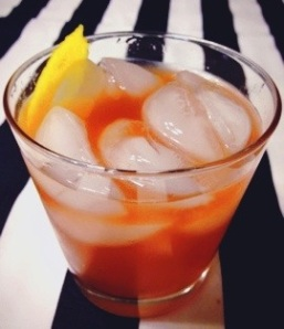 Ginger Blood Orange Vodka Soda