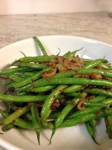 Haricot Verts with Whole Grain Mustard Vinaigrette