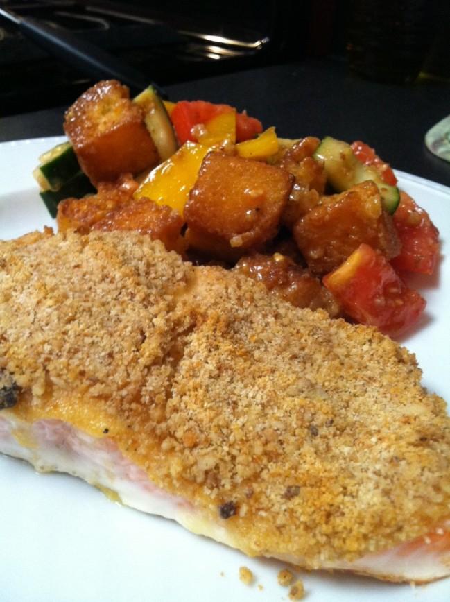 dijon crusted salmon. | The Dough Will Rise Again