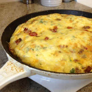 Italian Sausage Frittata with Balsamic Roasted Cherry Tomatoes