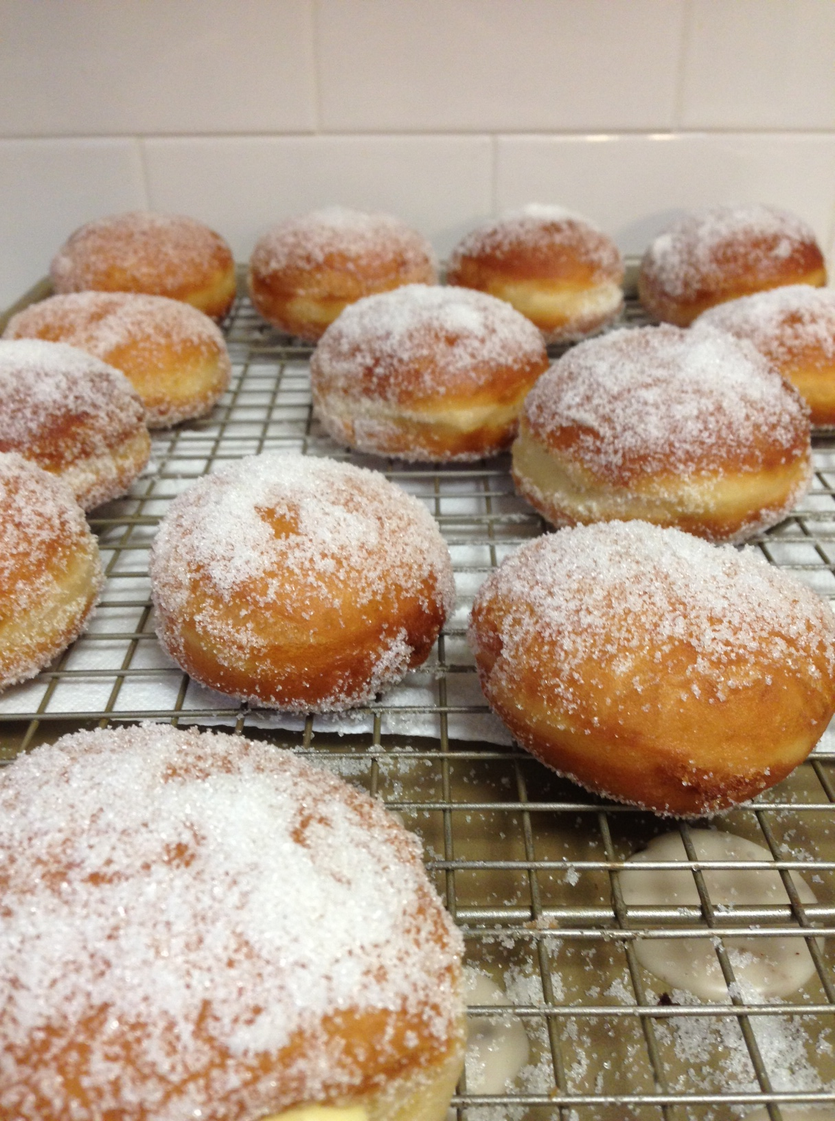 Sugar Dusted Donuts with Vanilla Custard Filling | The Dough Will Rise ...