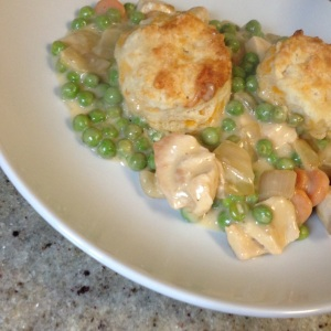 Chicken Pot Pie with Cheddar Biscuit Topping