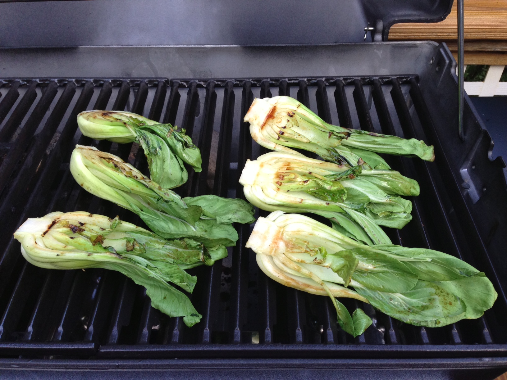 Allow the bok choy to cook on the grill for about 3 minutes, or ...