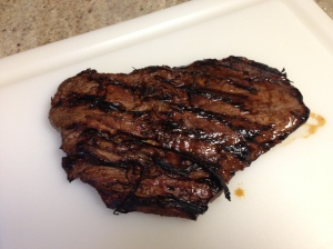 Honey Balsamic Flank Steak with Onion Jam