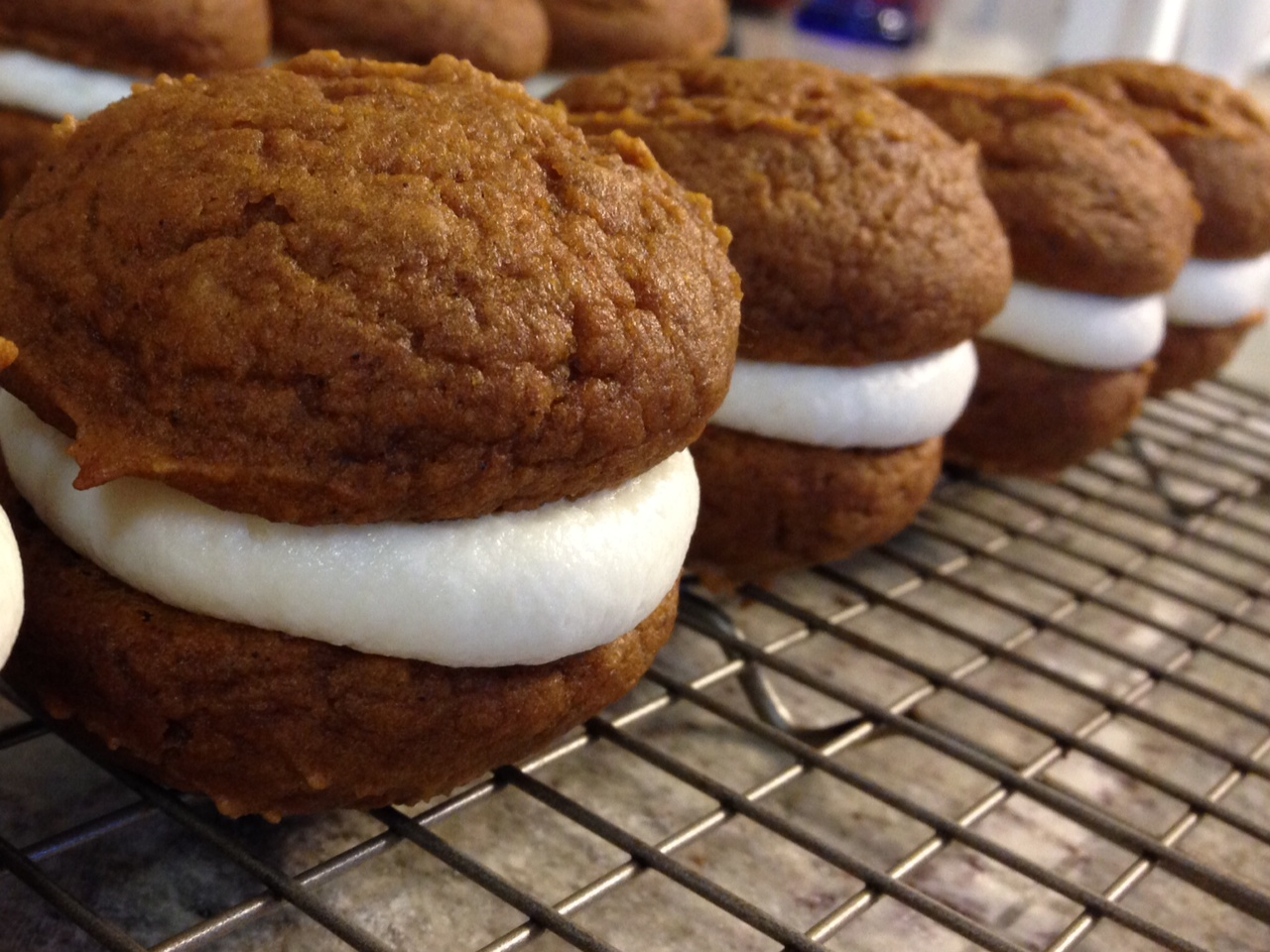 Pumpkin Whoopie Pies with Maple Cream Cheese Filling | The ...