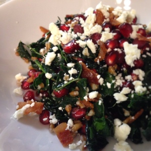 Wheatberry and Kale Salad with Maple Dijon Vinaigrette