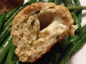 Mozzarella-Stuffed Chicken Meatballs with Rosemary and Parmesan