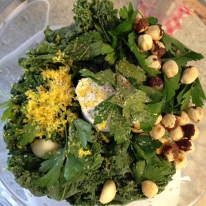 Kale and Hazelnut Pesto