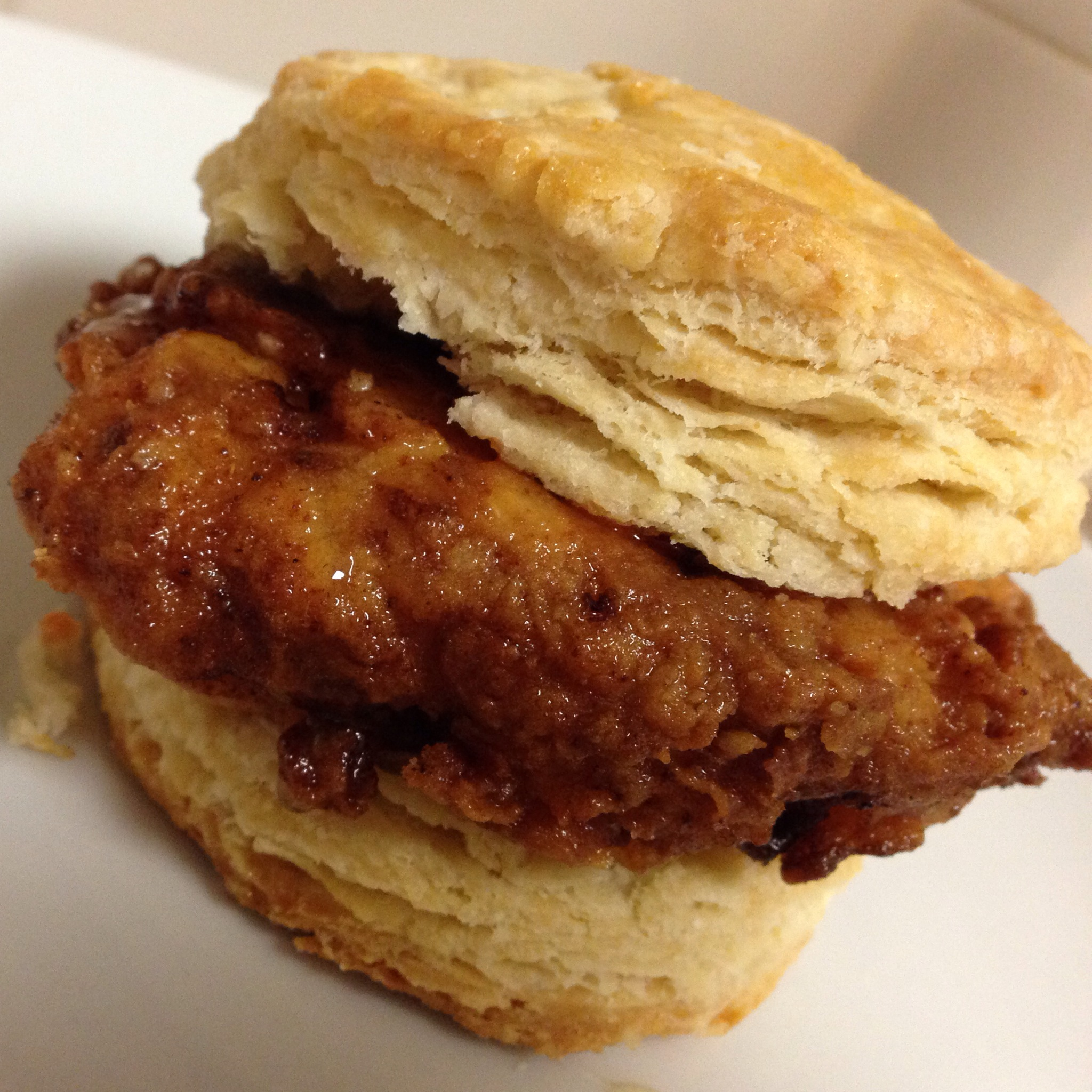 Fried Chicken, Honey Butter, And Biscuit Sandwiches ...