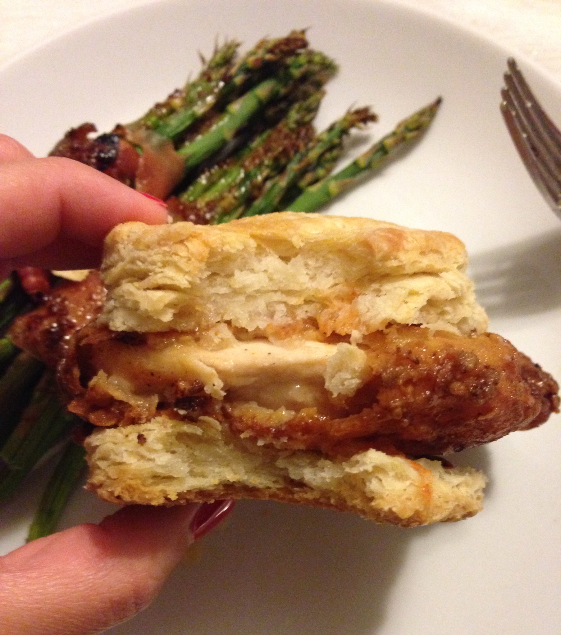 Buttermilk Fried Chicken Biscuits with Honey and Hot Sauce | The Dough ...