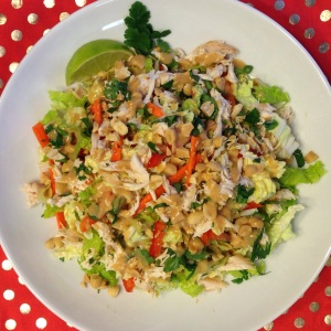 Thai Chicken Salad with Peanut Lime Dressing