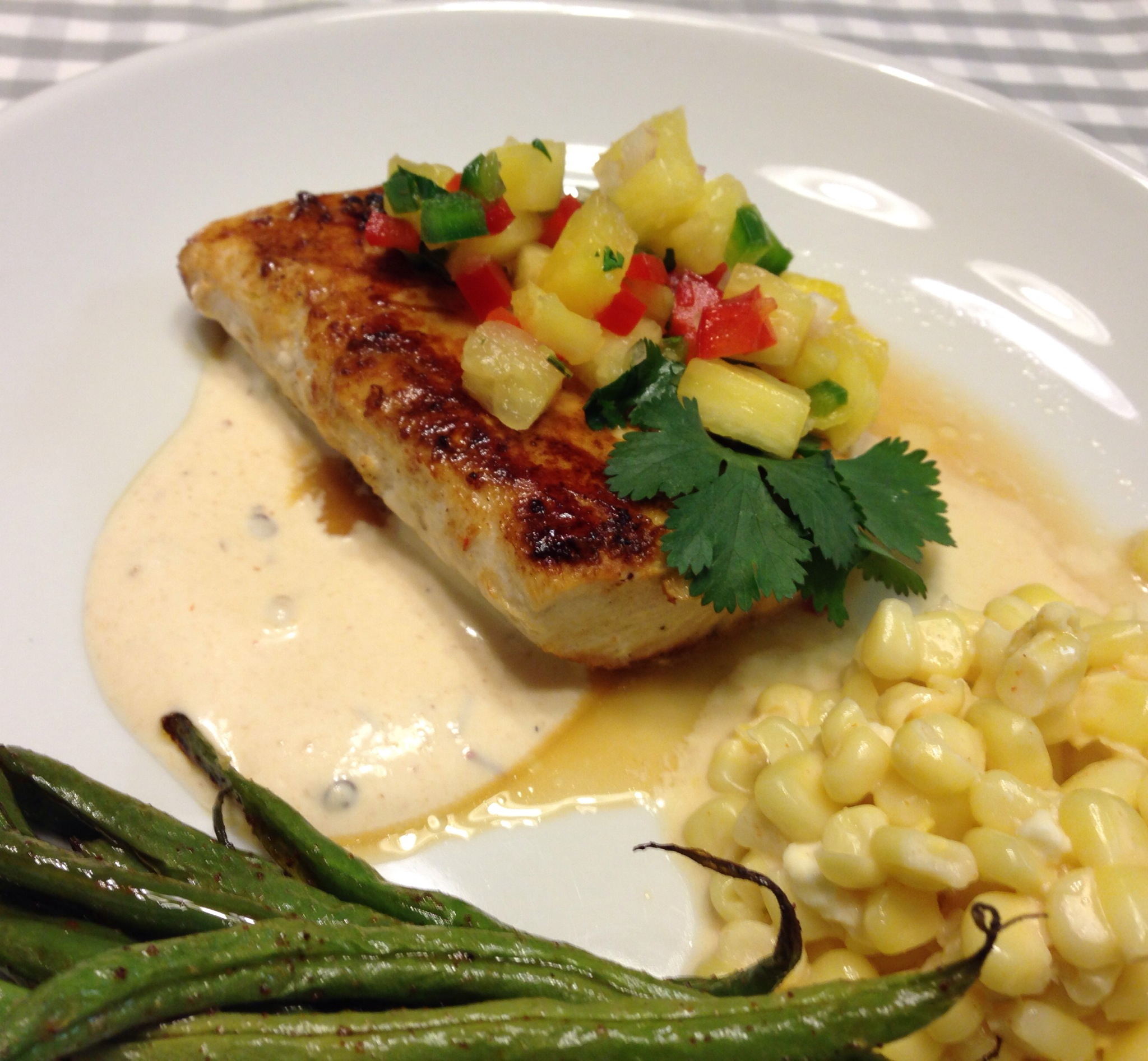 Honey Lime Mahi Mahi with Pineapple Salsa and Chipotle Lime Crema ...