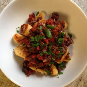 Pan-Fried Ricotta Gnocchi with Lamb Ragu