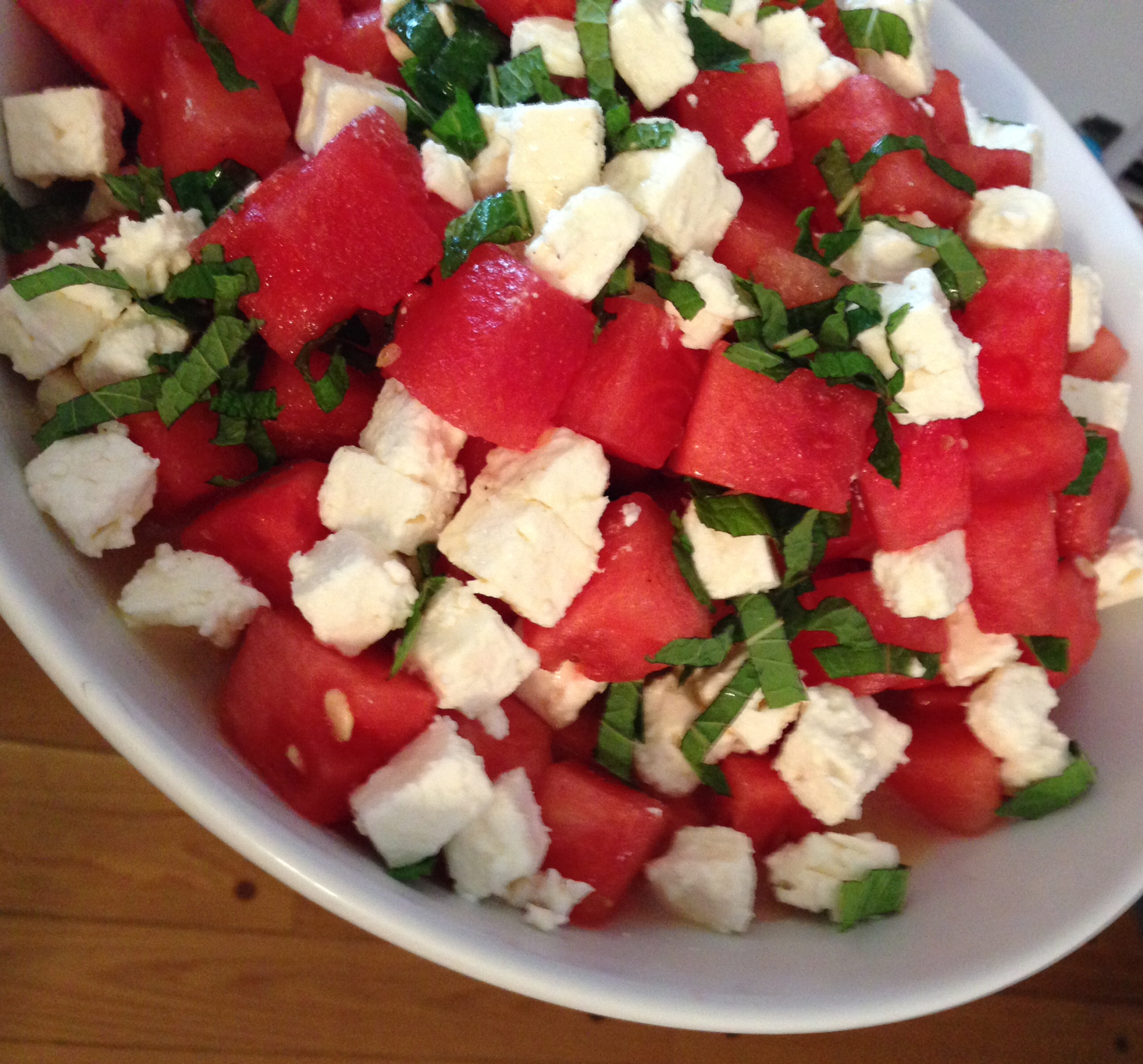watermelon feta and mint salad the dough will rise again. Black Bedroom Furniture Sets. Home Design Ideas