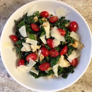 Kale Panzanella Salad with Honey Balsamic Vinaigrette