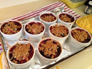 Mixed Berry Crumble with Brown Sugar and Balsamic Vinegar