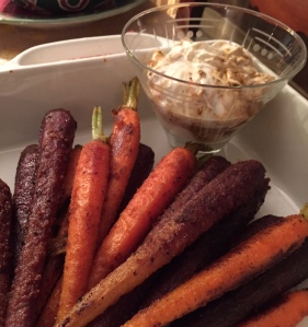 Spice-Crusted Carrots with Lemon and Chili Greek Yogurt Sauce