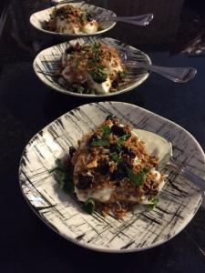 Yogurt  + Granola Breakfast Bowls with Coconut Maple Pecan Granola